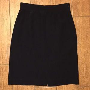 Silk Land Black Silk Skirt M